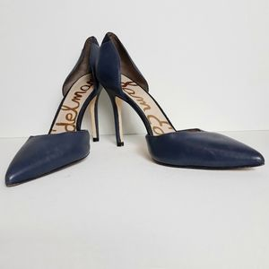 Sam Edelman Delilah Navy Blue Leather Heels